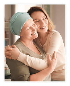 A female family member is hugging the patient and remain connected due to Medhera, the best med adherence services in the US