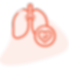 Lungs with a heart and tick sign shows CCM via hiCare Chronic