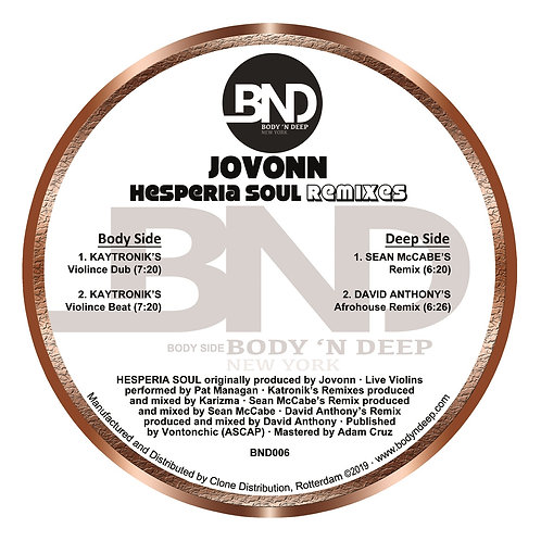 Jovonn Hesperia Soul (Remixes)