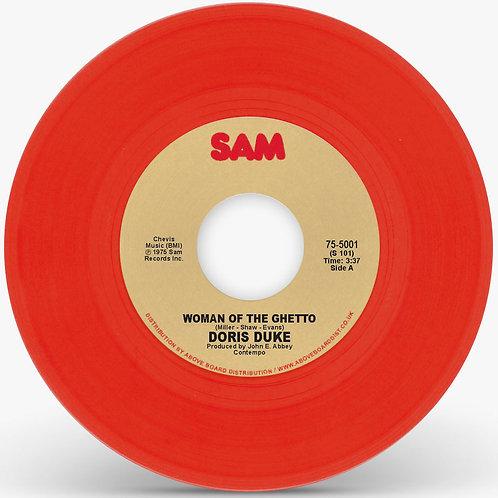 "Doris Duke - Woman Of The Ghetto 7"" (Red Vinyl Repress)"