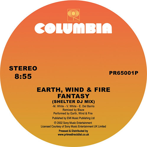 Earth, Wind & Fire - Fantasy (Shelter DJ Mix) / Can't Hide Love (MAW Album Mix)