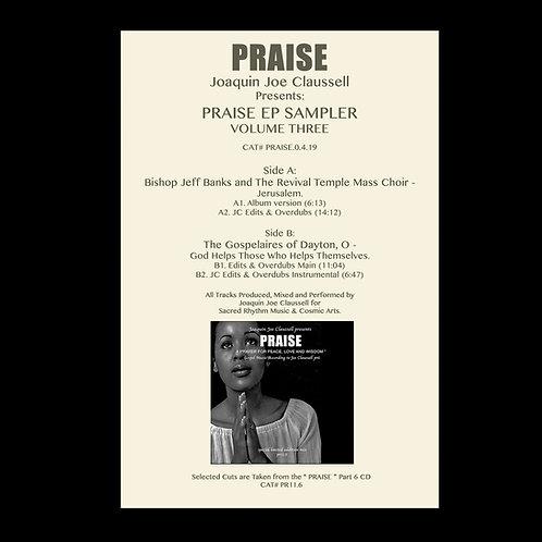 Joaquin Joe Claussell Presents - Praise EP Sampler Volume Three