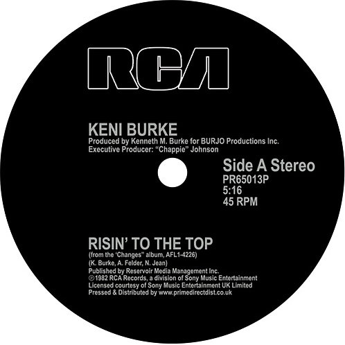 Keni Burke Risin' to the Top / You're the Best (12 Inch Mix)