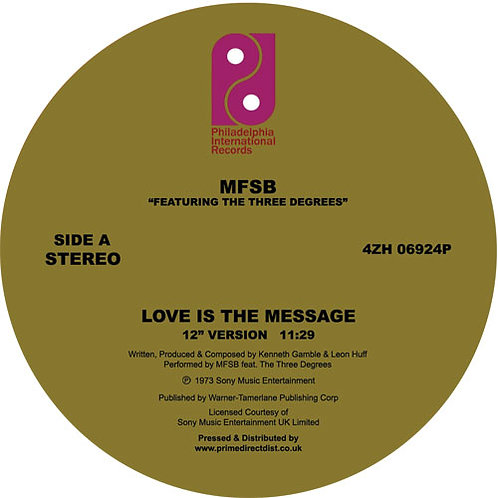 MFSB Feat. The Three Degrees - Love Is the Message (12 Inch Version) / TSOP (Spe