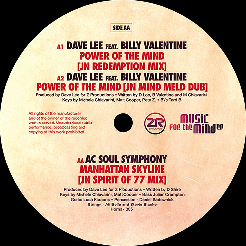 Dave Lee / AC Soul Symphony Featuring Billy Valentine - Music For The Mind EP