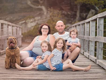 Séance famille à la plage