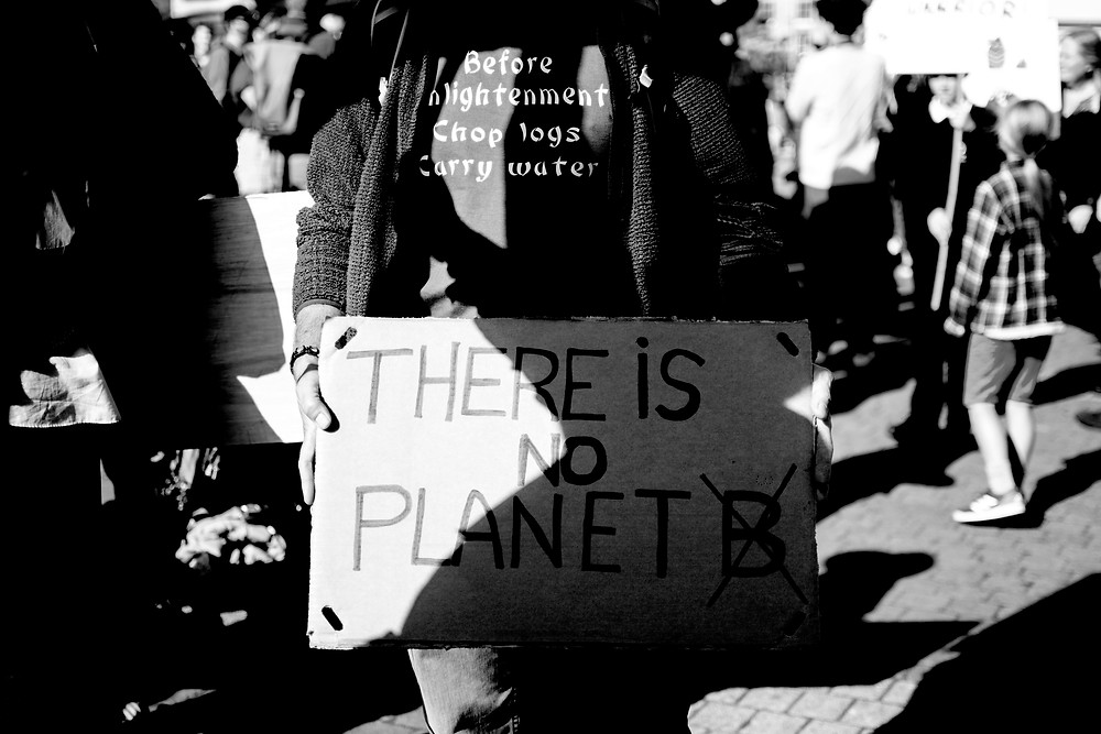 Global climate change protest