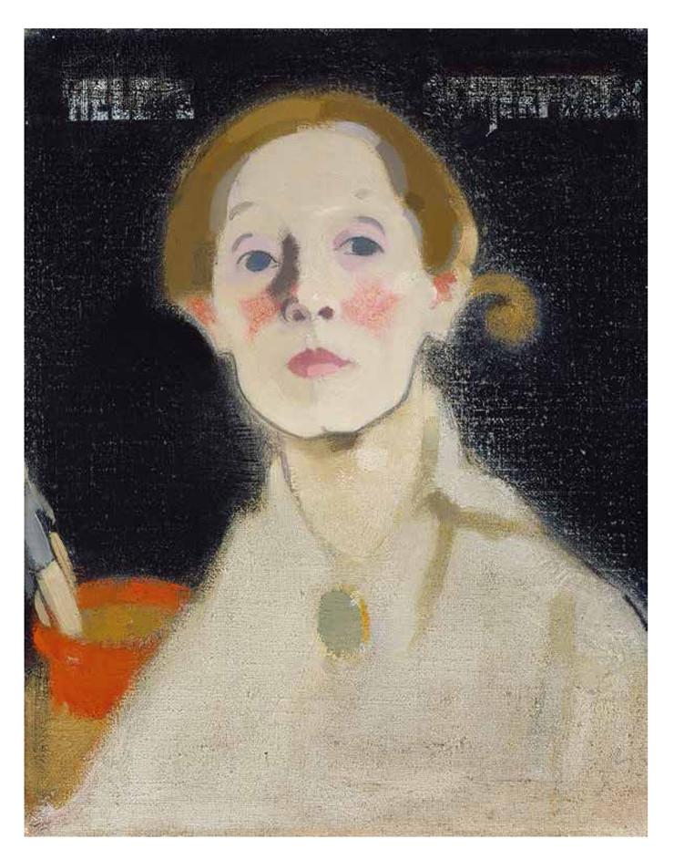 "Helene Schjerfbeck, ""Self-Portrait, Black Background"" (1915), oil on canvas, 45.5 x 36 cm, Herman and Elisabeth Hallonblad collection, Finnish National Gallery / Ateneum Art Museum (courtesy Finnish National Gallery / Hannu Aaltonen) Artworks Advisory"