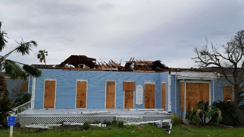 The Rockport Center for the Arts as seen after Hurricane Harvey. Courtesy of the Rockport Center for the Arts. Artworks Advisory