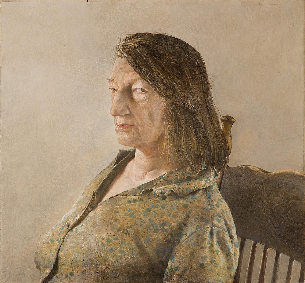 "Andrew Wyeth, ""Anna Christina"" (1967) tempera on panel, 21 ½ x 23 ½ in. jointly owned by the Brandywine River Museum and the Museum of Fine Arts, Boston, anonymous gifts, 2002 (© 2017 Andrew Wyeth/Artists Rights Society (ARS)) Artworks Advisory"