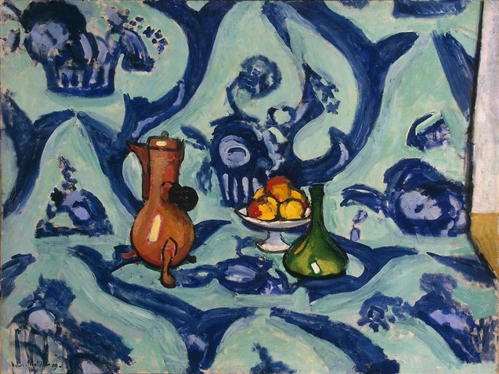 Henri Matisse, Still Life with Blue Tablecloth, 1909. Collection of the State Hermitage Museum. Artworks Advisory