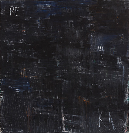Philippe Vandenberg, No title, ca. 2008, oil and pastel on canvas, 78¾ x 76¾ x 1⅛ inches. JOKE FLOREAL/©ESTATE PHILIPPE VANDENBERG/COURTESY THE ESTATE AND HAUSER & WIRTH Artworks Advisory