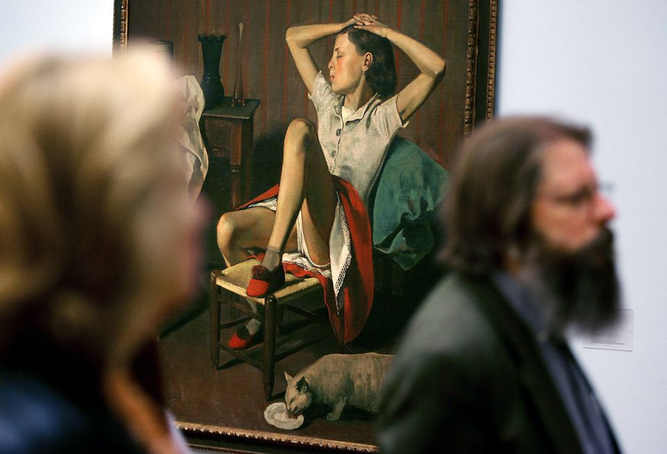 Thérèse Dreaming (1938) by Balthus was on show at the Museum Ludwig in Cologne, Germany, in 2007 Oliver Berg/dpa picture alliance archive/Alamy. Artworks Advisory. New York