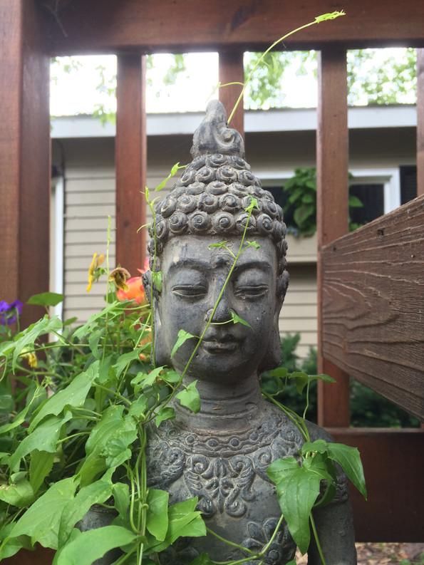 Buddha lady with vines