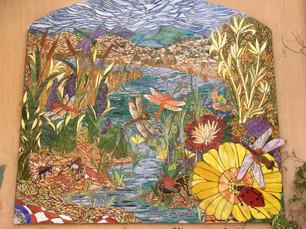 Beautiful but hidden mosaic at the ABQ Rio Grande Botanic Garden