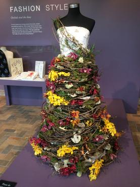 Orchid dress at Chicago Botanical Garden 2017