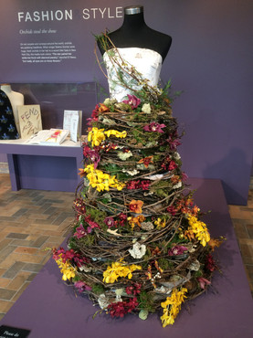 Orchid dress at Chicago Botanical Garden 2017