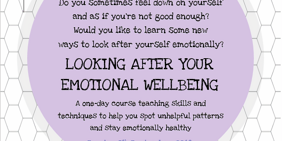 Looking After Your Emotional Wellbeing