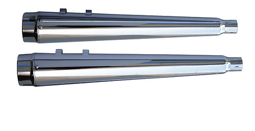 "USA-1 CHROME 4"" SLIP-ON MEGAPHONE MUFFLERS TOURING"