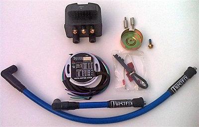 COMPLETE SINGLE FIRE ELECTRONIC DIGITAL IGNITION KIT SHOVELHEAD EVO