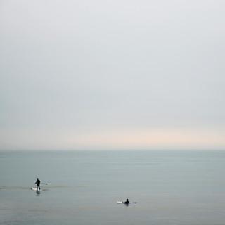 Pafddle boarders at Bracklesham Bay