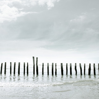 Old sea defences at East Head, West Wittering
