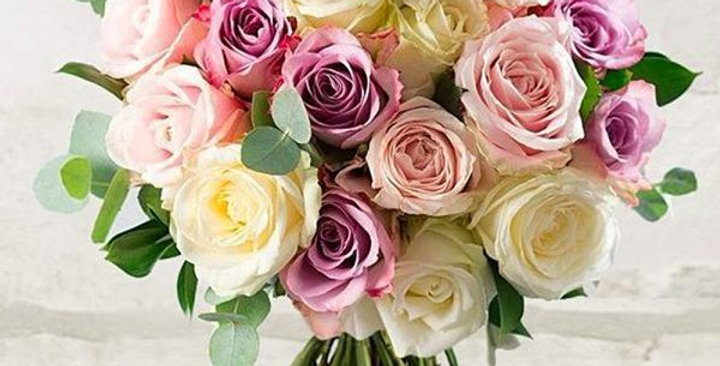 BOUQUET ROSE ROSA ROSE BIANCHE