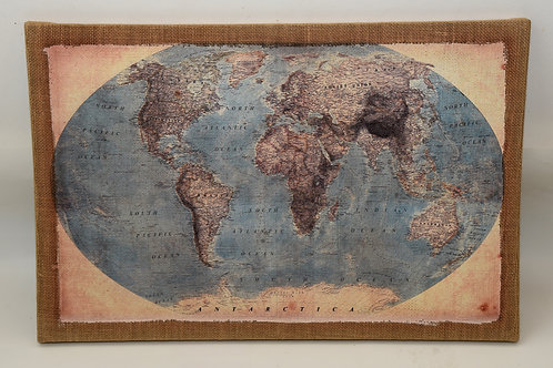 Cadre carte monde