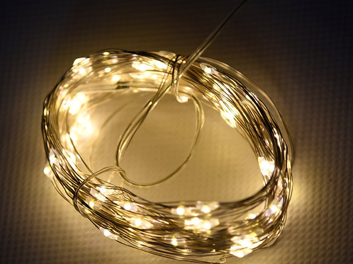 Guirlande LED 10m blanc chaud