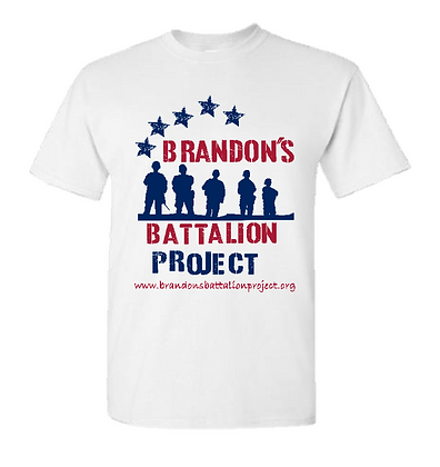 Star Spangled Battalion Design - White Tee