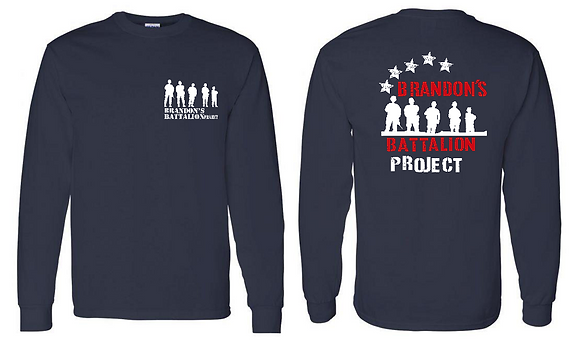 Star Spangled Design on Navy Long Sleeve Tee