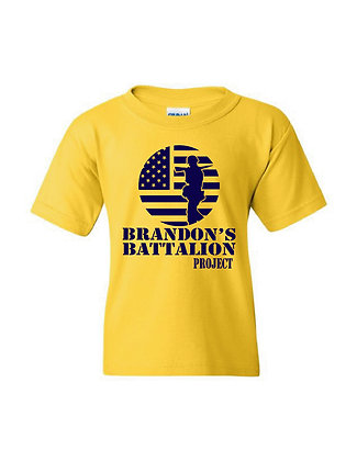 HERO-Brandon's Battalion Project Gold Youth Tee - Navy Design
