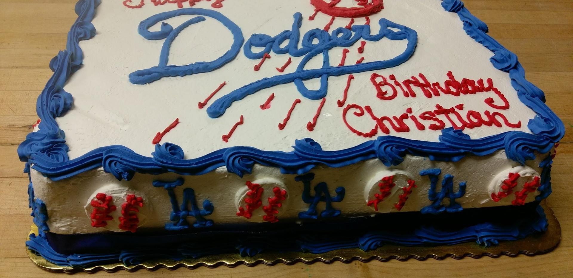 Birthday Cake Dodgers