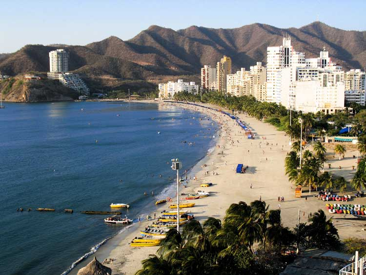 Santa Marta beach city