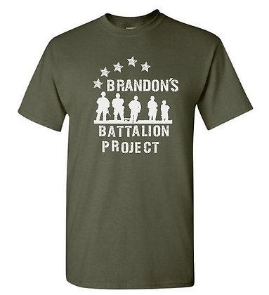 """Brandon's Battalion """"Stars"""" Design -White Design-Front"""