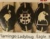 Flying Animal Bracelets (3) - Laser Engraved Wood, Leather, & Hemp