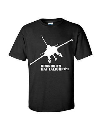"""Jet"" DESIGN Short Sleeve T Shirt - Black"