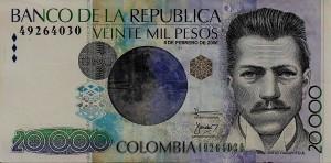 20 mil pesos - front