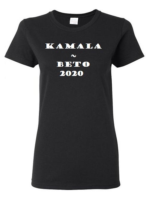 Kamala - Beto 2020 Black Ladies' Tee with White Print