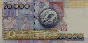 20 mil pesos - back