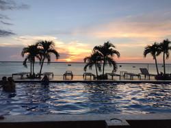 swimming pool sunset 3