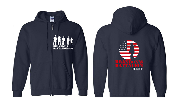NAVY HOODIE - BBP LOGO FRONT WHITE - BAC