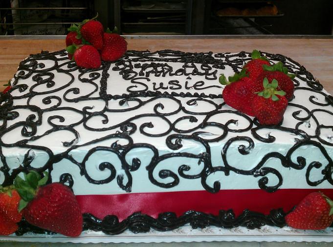 Birthday Cake flowers