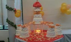 orange candle cake wedding