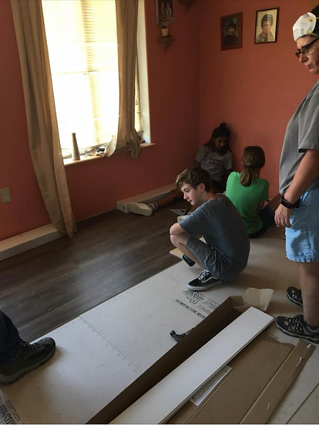 Laying down the floor