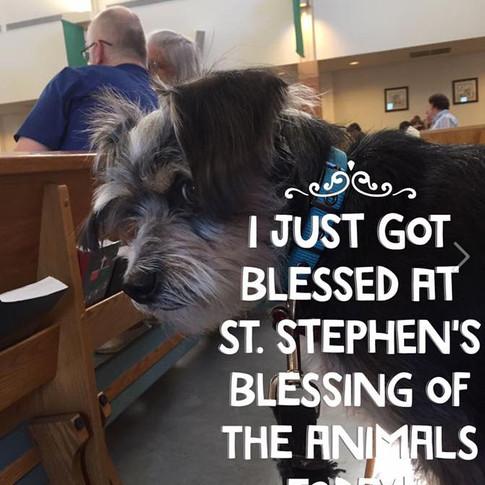 Barkley gets blessed!