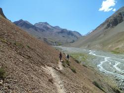 Treking valle el plomo