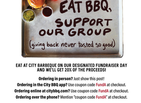 Skip Cooking Dinner for a night and Support the Arts Boosters