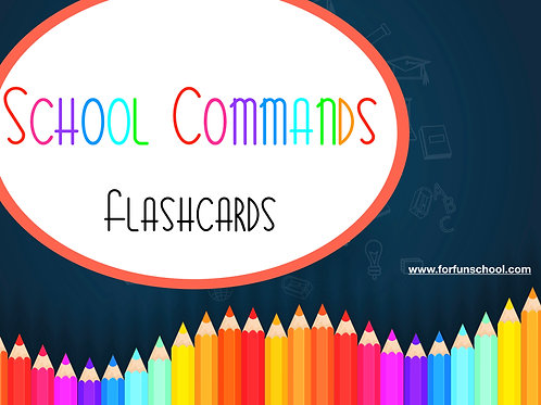 School commands flashcards