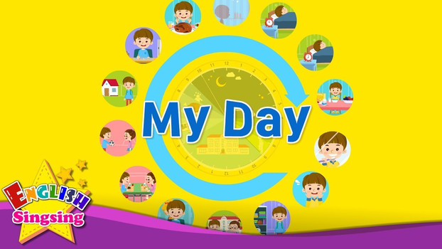 Kids vocabulary - My Day - Daily Routine - Learn English for kids - English educational video